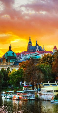 Sunset over Prague Castle, Czechia. 22 Reasons why Czechia must be in the Top of your Bucket List Places Around The World, Travel Around The World, Around The Worlds, Cool Places To Visit, Places To Travel, Prague Czech Republic, Prague Castle, Amazing Sunsets, Belle Photo