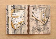 Architektur-Entwürfe von Reid Schlegel: viel Durchblick und jede Menge Fantasie - sketchbooks4