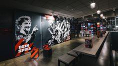 Schwadbud Bayer 04 Leverkusen by Schwitzke Group, Leverkusen   Germany sports showroom store design branding branding bar