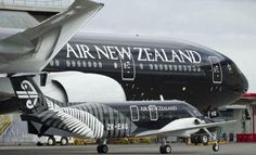 Air New Zealand All Blacks Logo Jets Boeing 777-300 and Beech 1900