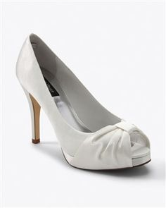 Some day I will have the courage to buy white shoes and keep them white for longer than a week.  Adorable.  WHBM  $98