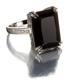 I can see myself in this. Emerald Cut Black Diamond Ring in 14k Gold