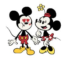 Mickey gets a big kiss from Minnie Minnie Mouse Pics, Mickey And Minnie Kissing, Mickey Mouse Shorts, Disney Mouse, Mickey Mouse And Friends, Mickey Cartoons, Love Smiley, Classic Disney Characters, Oswald The Lucky Rabbit
