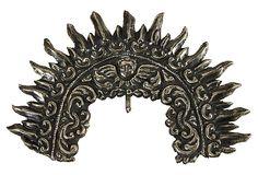 Peruvian Saint Half Crown. Hammered sterling silver.