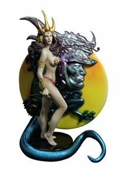 "Yamato Fantasy Figure Gallery Dragon Maiden Resin Statue, Scale 1:6 by Yamato. $280.99. 1:6 scale statue stands 13 3/4"" tall. Sculpted by Eric Sosa and Shin Tanabe. Includes an elaborate diorama display base. From master artist Boris Vallejo. Limited to just 500 pieces. From the Manufacturer                From Yamato USA. She had been chosen by the priest, cleansed and adorned by the other maidens, but she had no plans to be sacrificed. Yamato USA is pleased to unveil the ..."