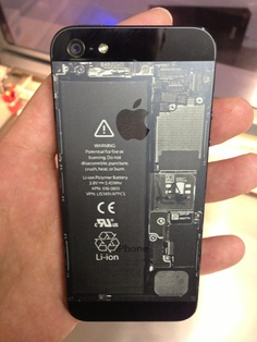 Engraved backside of a Apple iPhone 5 - by www.laser-tattoo.de