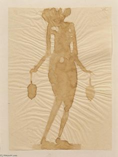 'Flower Nymph', Watercolour by Joseph Beuys (1921-1986, Germany)