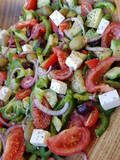 Mediterranean chop chop salad clean eating recipe