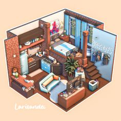 Sims Love, The Sims 4 Pc, Sims 4 House Plans, Sims 4 House Building, Sims 4 Loft, Sims 4 Challenges, Sims 4 Bedroom, Sims 4 House Design, Casas The Sims 4