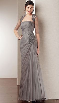 MagBridal Bridal Dresses Online,Wedding Dresses Ball Gown, futuristic net with lace appliques strapless neckline full length mother of the bride dress with a jacket Party Gowns, Wedding Party Dresses, Bridal Dresses, Bridesmaid Dresses, Prom Dress, Dress Long, Mob Dresses, Fall Dresses, Fashion Dresses