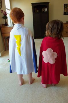 Easy Superhero Capes - Cutesy Crafts