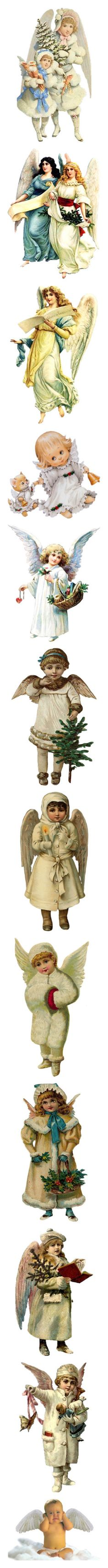 """""""Angels"""" by sjk921 ❤ liked on Polyvore featuring christmas, natale, victorian christmas, angels, people, models, tubes, women, backgrounds and children"""