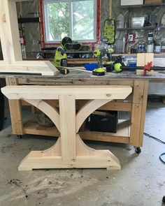 Look at this beauty, it took a while to get all the pieces just right and one ne… Look at this beauty, it took a while to get all the pieces just right and one new tool purchase but wow… just wow… so much still to… Diy Dining Table, Dinning Room Tables, Diy Farmhouse Table, Rustic Table, Wooden Tables, Rustic Furniture, Diy Furniture, System Furniture, Furniture Plans