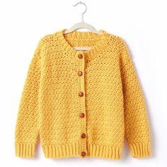 Adult Crochet Crew Neck Cardigan - Free Pattern