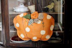 Burlap Pumpkin DIY