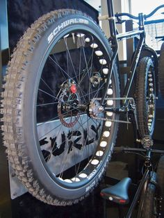 "motorized surly bike | you can fit up to a 3"" tire in a surly 1x1 frame... these are only ..."