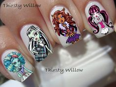 Monster High Full Nail Wraps by ThirstyWillow on Etsy, $4.25