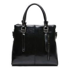 $29.55 Retro Buckle and Zipper Design Women's Tote Bag