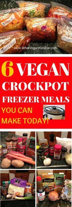 VEGAN Crockpot FREEZER Meals What vegan kids eat – crockpot freezer meals make ahead - Delicious Vegan Recipes Vegan Freezer Meals, Vegan Crockpot Recipes, Crockpot Meals, Kids Vegan Meals, Freezer Cooking, Vegan Recipes To Freeze, Vegetarian Kids Recipes, Cooker Recipes, Easy Recipes