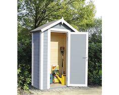 Wandhaus Cabin premio mit Fußboden 120x62 cm silbergrau