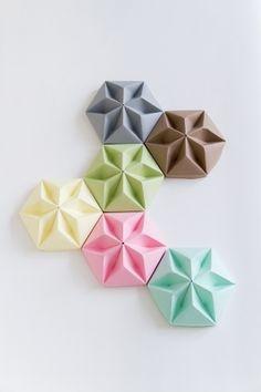 cache fil en papier origami (couleurs au choix)