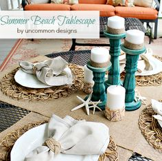 {DIY} Summer Beach Tablescape!