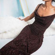 Brown Prom Dresses, Vintage Formal Dresses, Gala Dresses, Event Dresses, Brown Dress, Homecoming Dresses, Dress Outfits, Fashion Dresses, Dress Up