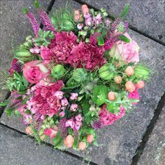 Bouquet in pinks by Jane Farthing