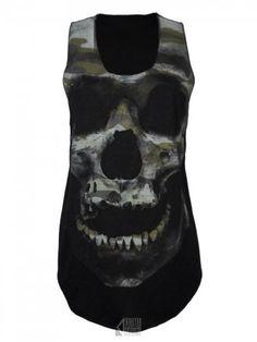 Camo Skull Vest - Black