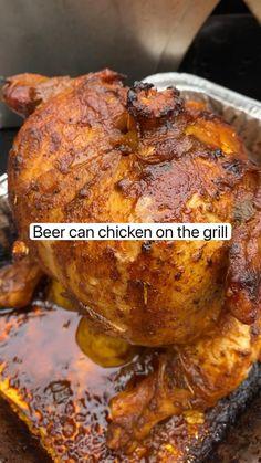 Easy Chicken Dinner Recipes, Chicken Wing Recipes, Healthy Chicken Recipes, Beer Recipes, Grilling Recipes, Cooking Recipes, Canned Chicken, Buffalo Tofu, Grill Master