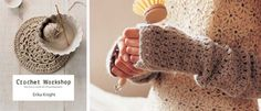 FREE Crochet pattern: Fingerless mittens, beautiful . Freebie from Erika Nights' Book: Thanks ever so for share xox