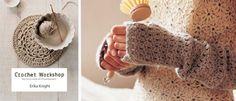 Crochet fingerless mittens DIY