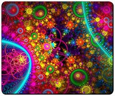 """Abstract Colorful Fractal Customizable Gaming Mouse Pad 240x200x3mm(9.45""""x7.87""""x0.12"""") by iCustom&Shop Mouse Pads http://www.amazon.com/dp/B017I4VXUQ/ref=cm_sw_r_pi_dp_GShowb0V6H0WP"""