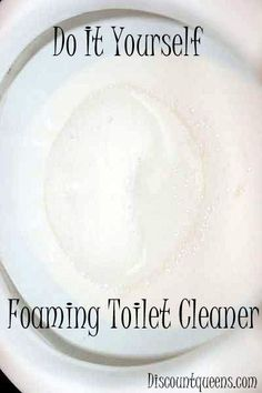Do It Yourself Foaming Toilet Cleaner!--pour in toilet 1 c. Baking soda then 3c. Vinegar, let sit 30 min, scrub, done!