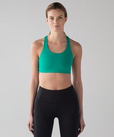 6967c0f4ef775 Invigorate Bra in Viridian Green Women s Sports Bras