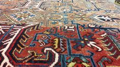 Shearing an older rug can bring it back to life!