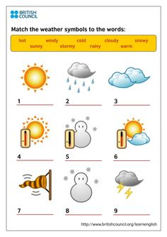 Kids Print Weather Symbols by acquarisorse via slideshare