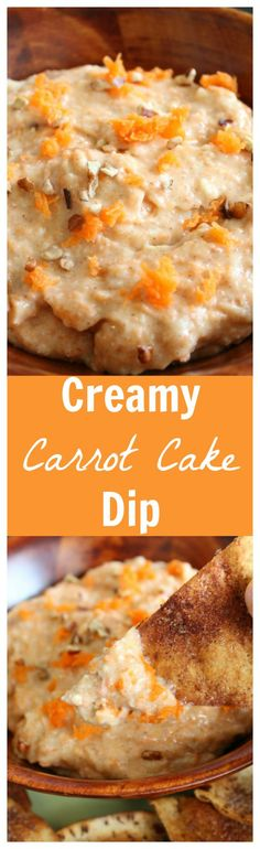Creamy Carrot Cake Dip – All of your favorite carrot cake flavors, in dip form! It's super easy to make and perfect for Easter! Dessert Dips, Best Dessert Recipes, Dip Recipes, Cupcake Recipes, Casserole Recipes, Delicious Recipes, Snack Recipes, Lemon Desserts, Easy Desserts
