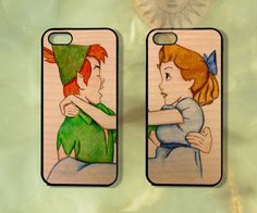 Customized Wendy & Peter Pan Couple Case-iPhone 5, iphone 4s, iphone 4, ipod touch5,  Samsung GS3-Silicone Rubber or Hard Plastic Case,cover...
