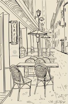 Ideas House Sketch Paris For 2019 Town Drawing, Paris Drawing, Wall Drawing, Perspective Drawing Lessons, Perspective Art, Pencil Art Drawings, Drawing Sketches, Paris Kunst, Architecture Sketchbook