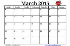 march 2015 calendar page March 2015 Calendar, March Calendar Printable, Preschool Calendar, Work Calendar, Baby Due Date Calendar, Excel Calendar, Calendar Numbers, Academic Calendar, Blank Calendar