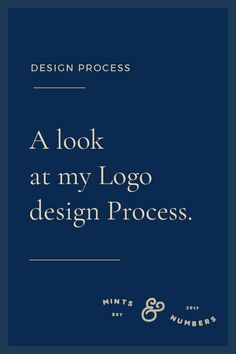 A Look at my Logo Design Process - Mints And Numbers - I always like to create systems around my process on which I can rely on. Especially in creative p - Web Design, Graphic Design Tips, Graphic Design Inspiration, Tool Design, Logo Design Tips, Media Design, House Design, Design Thinking, Identity Design
