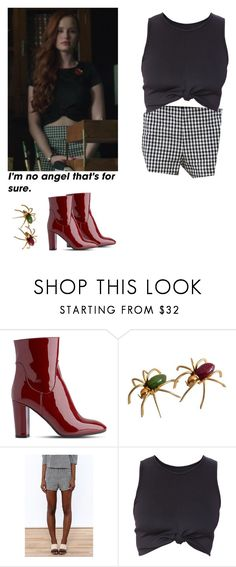 """""""Cheryl Blossom - Riverdale"""" by shadyannon ❤ liked on Polyvore featuring L.K.Bennett"""