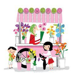 Beautiful flowers are everywhere from @Nila Aye #illustration #flowers