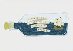 A Smooth Sea Typography Quote Wall Art Print Inspirational Wall Art Print Nautical Design Print Inspirational Quote Skilled Sailor