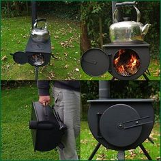 The Frontier Stove - a portable wood burning stove for your tent!