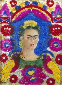 Frida Kahlo - The frame, Self-portrait (1937-38)