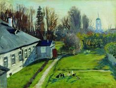 In the estate of a collector Schwartz, Uspenskoe in the Staraya Ladoga - Boris Kustodiev
