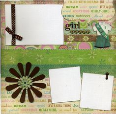 Girl Scout Scrapbook Layout
