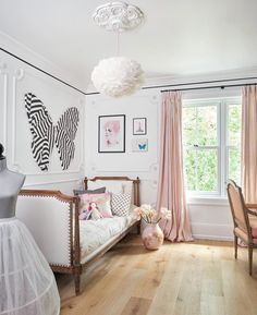 We had to share this inspiring and decadent girl's bedroom designed by @christinedovey featuring our Grey Wash Daybed.